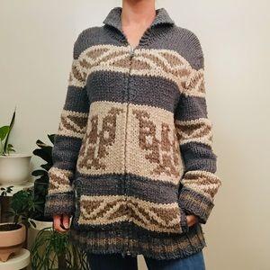 Vintage Thunderbird Full Zip Sweater Jacket